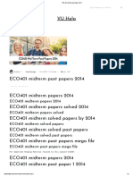 ECO401 midterm past papers 2014