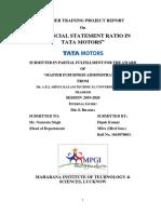 Financial statement Ratio in Tata Motors (1)