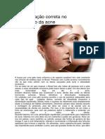 A alimentação correta no tratamento da acne