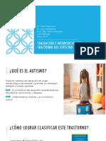 Evaluación e intervención en Trastorno del Espectro Autista real
