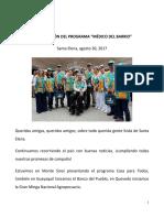 """2017.08.30-PRESENTACIÓN-DEL-PROGRAMA-""""MÉDICO-DEL-BARRIO"""""""