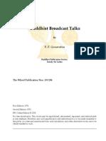 Buddhist Broadcast Talks