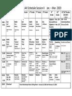 Schedule Session II - Jan2020