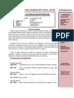 Curriculum Fernanda Jofre