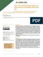 Vélez (2018). Una Mirada Histórica y Socio-Ambiental Para Repensar y Renombrar Los Conflictos Entre Comunidades Étnicas Del Alto Cauca