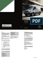 2018 Sprinter Operators Manual