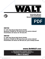 Manual de usuario esmeril Dewalt
