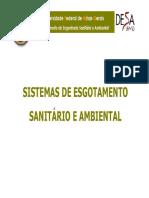 Aulas iniciais _ Esgotamento Sanitário e Ambiental (Engenharia Ambiental)