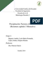Hidrologia P1 Grupo2 Resumen Monsalve