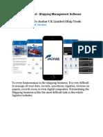 Jaohar UK Limited - Shipping Management Software