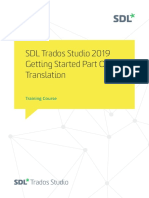 SDL Trados Studio Getting Started Part 1 sp1