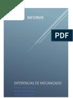 Informe Diferencias de Mecanizado