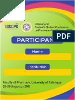 ID Card Peserta IGSCPS