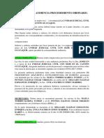 Simulacion de Audiencia Procedimiento Ordinario.