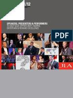 JLA - Speakers Bureau 2011 Index