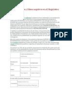 Falsos Positivos y Falsos Negativos en El Diagnóstico Médico