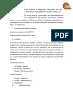 INFORME DE ACTUACION FRENTE A SIMULACRO REALIZADO EN LAS INSTALACIONES DE LA  UNIVERSIDAD ANDINA NESTOR CACERES VELASQUEZ