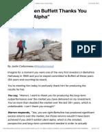 """When Warren Buffett Thanks You for """"Client Alpha"""" – Validea's Guru Investor Blog"""
