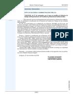 Modificación rpt oficinas delegadas Aragón