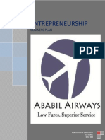92716118 Business Plan of Budget Airline Company