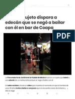 [VIDEO] Sujeto Dispara a Edecán Que Se Negó a Bailar Con Él en Bar de Coapa – El Big Data