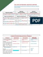 MATRIZ DE CONSISTENCIA LÓGICA Y CUADRO DE VARIABLES