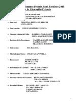 Nómina de Alumnos Premio Rene Favaloro 2019 Privadas