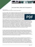 el mito alianza hitler stalin