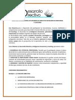 DESARROLLO DIRECTIVO INTELIGENCIA EMOCIONAL Y COACHING