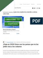 ¡Viaja en 2020! Estos son los países que no les piden visa a los cubanos - Directorio Cubano 2019
