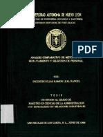 Análisis Comparativo de Métodos de Reclutamiento y Selección de Personal