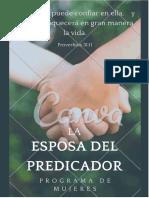 Programa de mujeres La esposa del Predicador