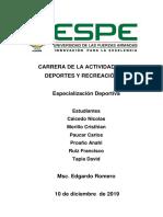 Especializacion Deportiva