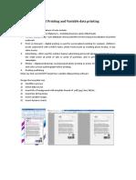 Digital Printing and Variable Data Printing