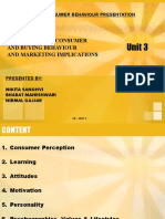 THE INDIVIDUAL CONSUMER AND BUYING BEHAVIOUR AND MARKETING IMPLICATIONS