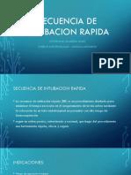 Secuencia de Intubacion Rapida