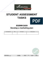 BSBMKG609 Student Assessment Tasks