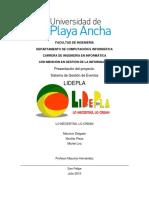 Sistema de Gestion de Eventos LIDEPLA
