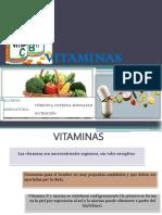 VITAMINAS - NUTRICIÓN