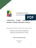 Conflictos Entre Afiliados e Isapres y Entre Afiliados y Fonasa