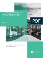Teacher Experience and Student Achievement