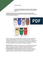 La separacion y el resiclaje de residuos solidos