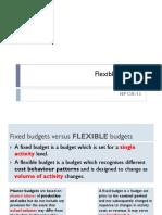 4. Flexible Budgets