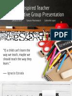 inspired teacher  collaborative group presentation