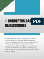 CONCEPTOS BASICOS DE DECISIONES