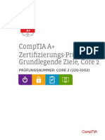 Comptia a 220 1002 Exam Objectives German