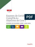 Comptia a 220 1001 Exam Objectives Spanish