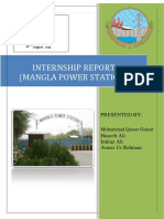 power station mangla internship report