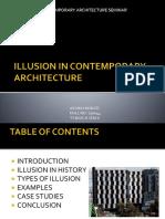 Illusion in Contemporary Architecture