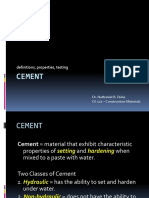 CE 121 Lecture on Cement